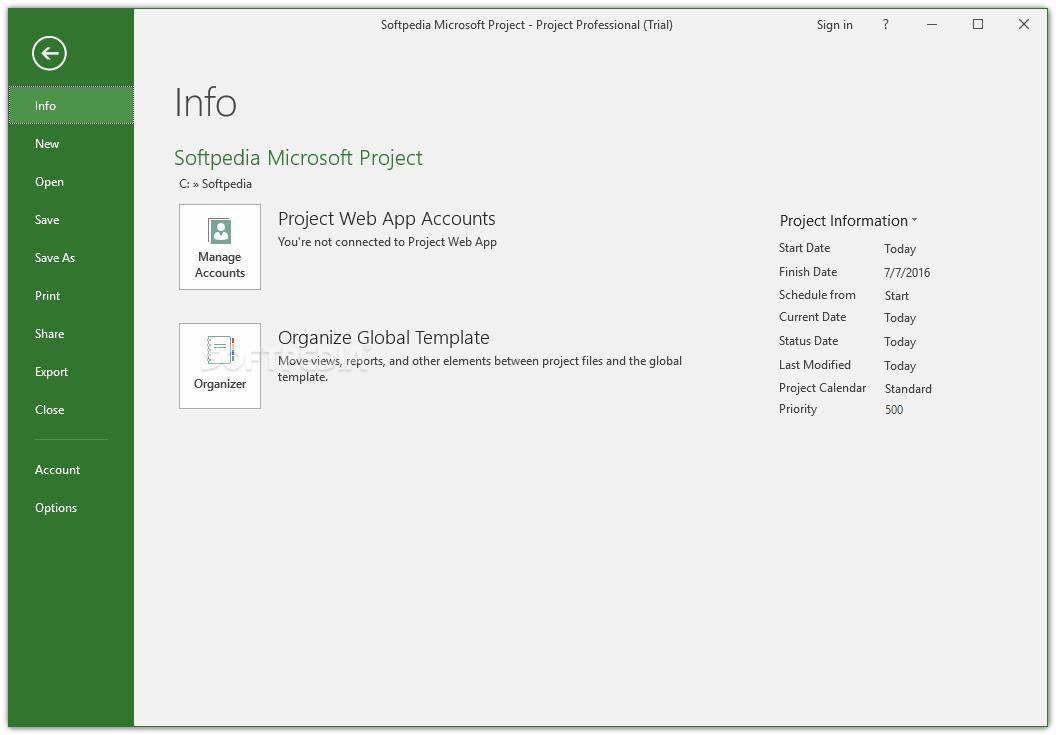 microsoft project 2016 64 bit free download