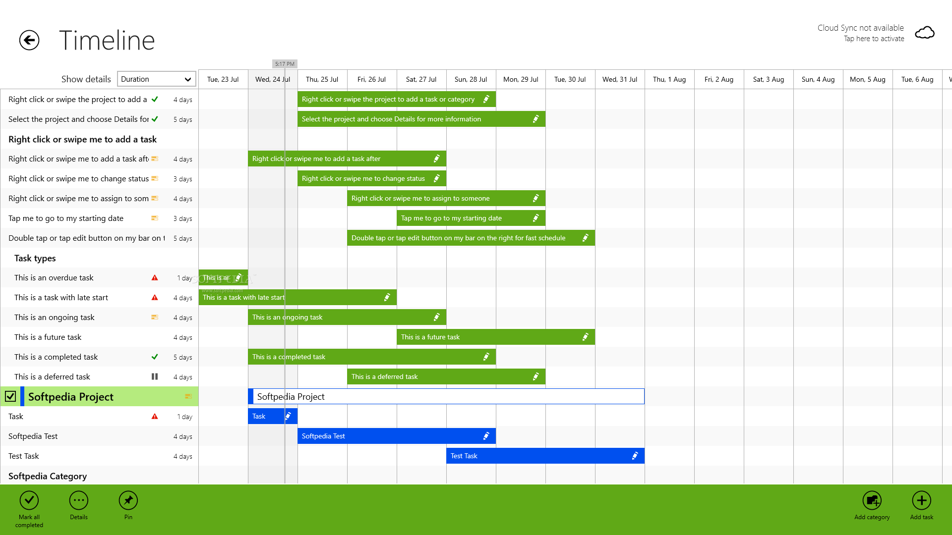 Project Timeline for Windows 8 - screenshot #4
