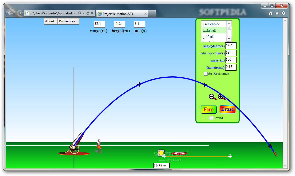 application of projectile motion This topic is a part of applications of calculus of physics world, and projectile motion is one among them in hsc maths extension 1 a projectile is some object thrown in space or air.