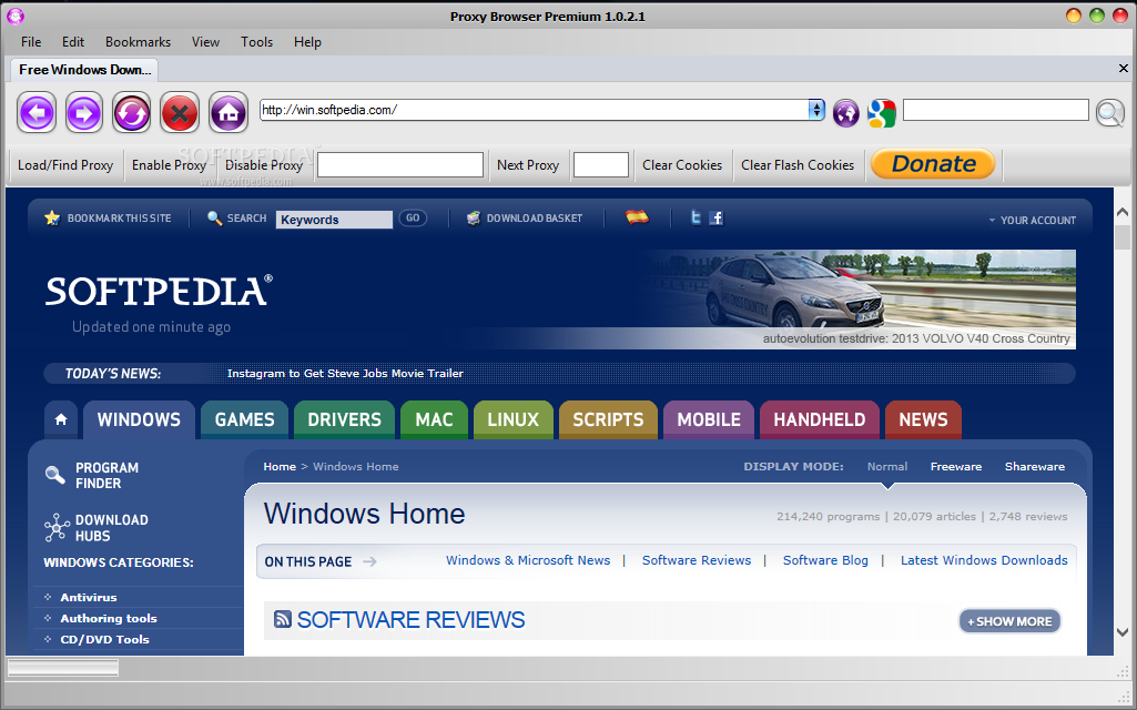 Proxy web browser free download