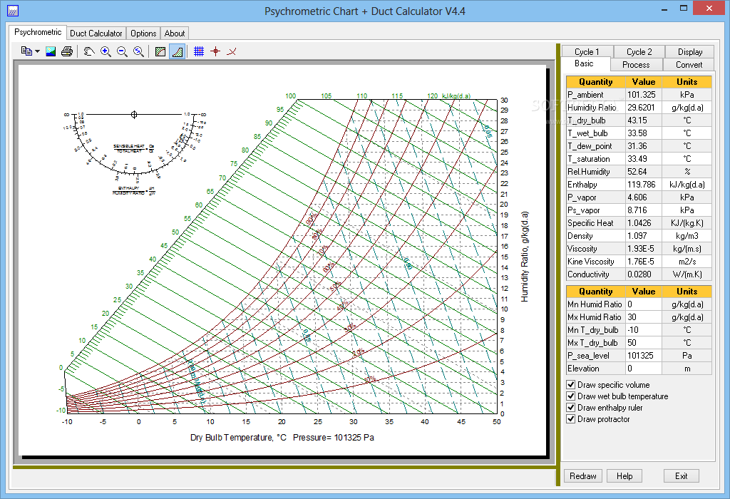 Download psychrometric duct calculator 4 4