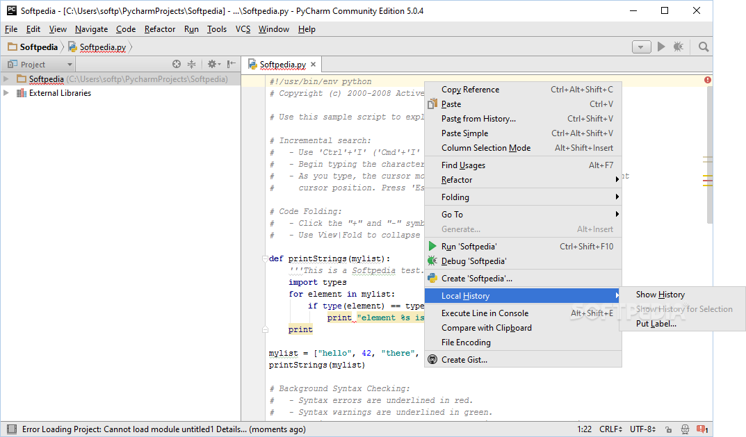 Download PyCharm Community Edition 2019 2 Build 192 5728 105