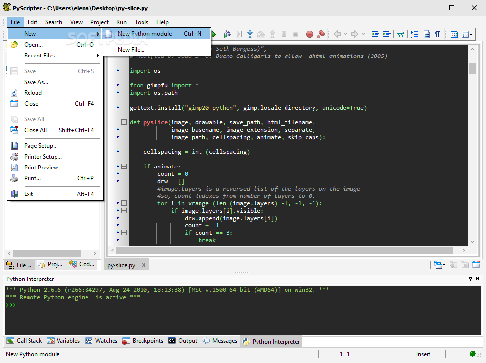 Download PyScripter 3 6 1