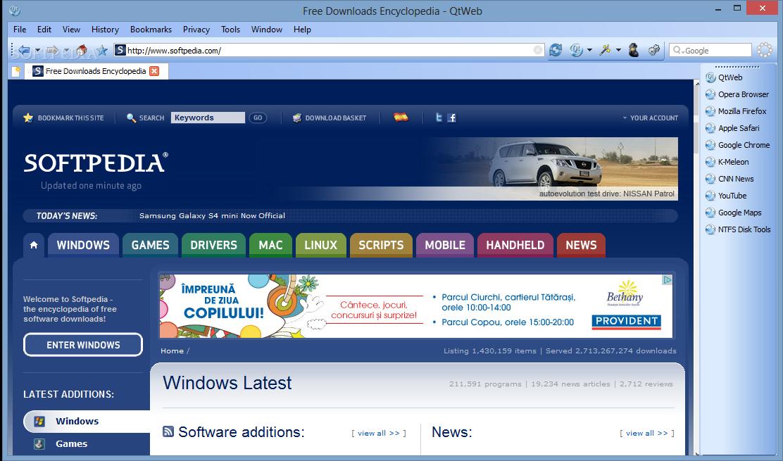 Download QtWeb Portable 3.8.5 Build 108