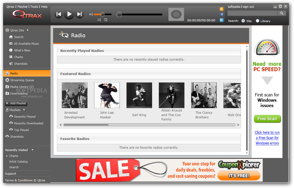 Download Qtrax 2013.08.07.002 ... download Qtrax - The software enables you to access online radio  stations and listen to music.