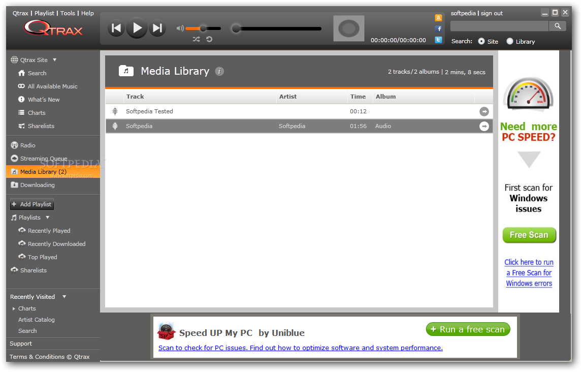 Download Qtrax 2013.08.07.002 Qtrax - You will also be able to add local tracks in the Media Library, ...