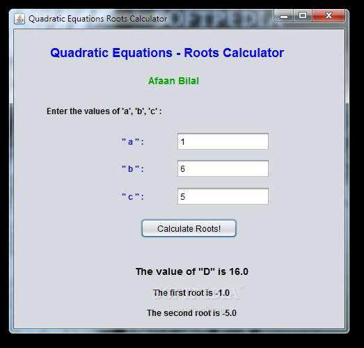 Solving equations using quadratic formula calculator tessshebaylo.
