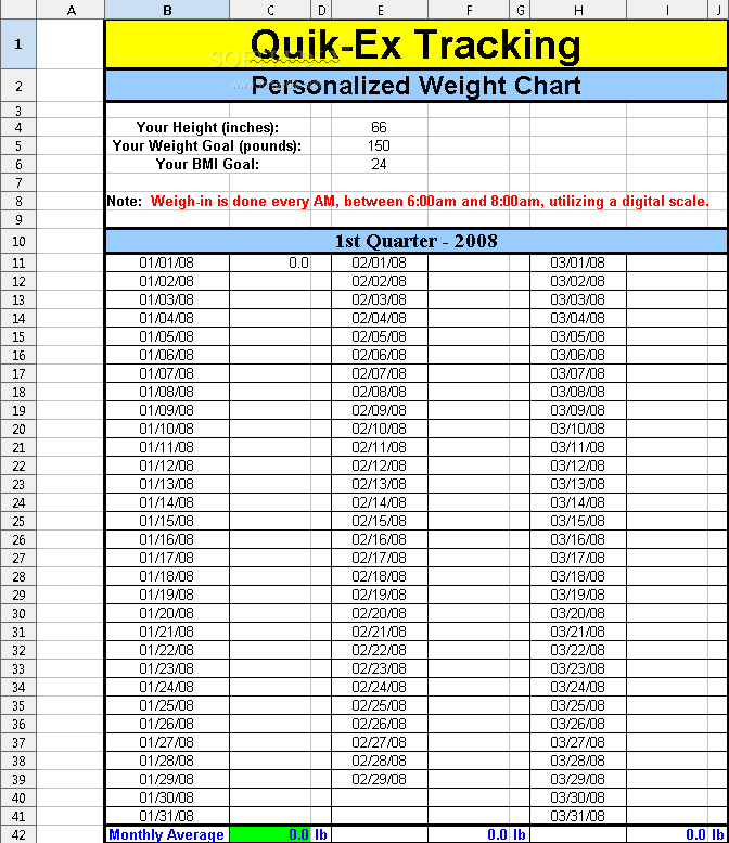 ideas about Weight Loss Chart on Pinterest | Fitness diary, Goal ...