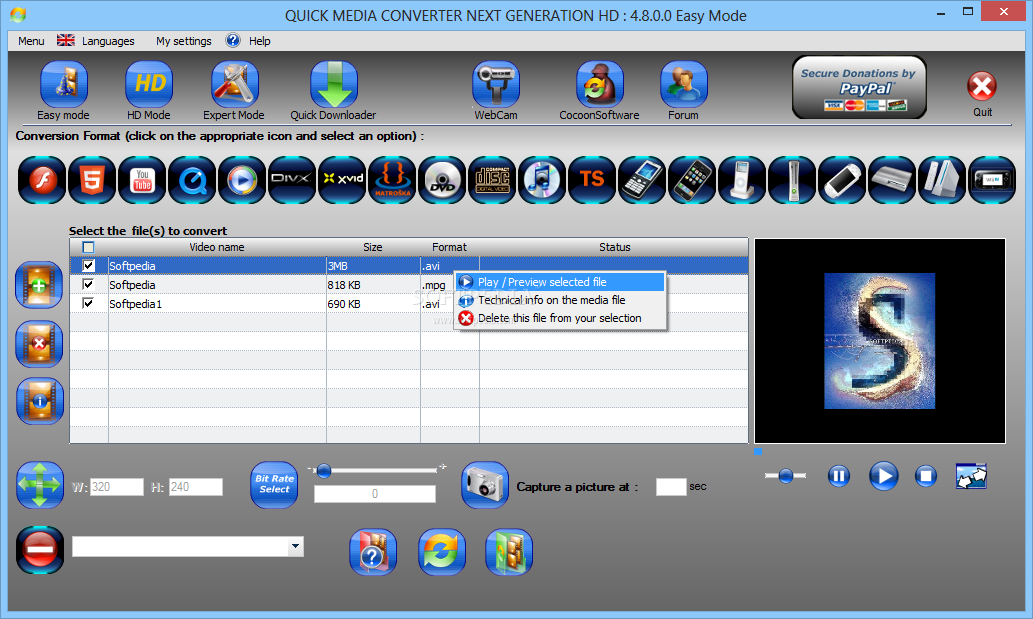 Download free quick media converter.