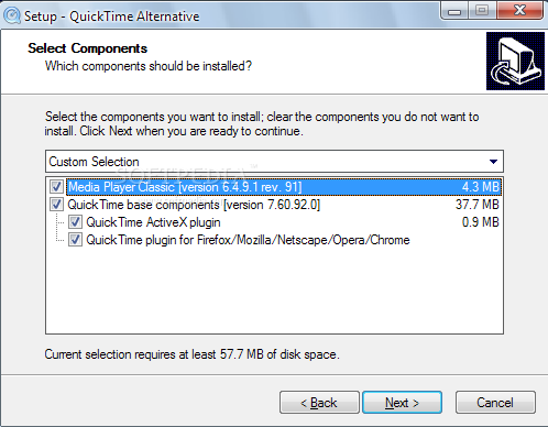 Quicktime Windows 2003