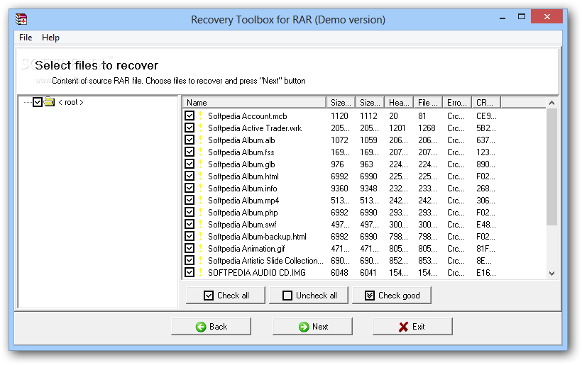 Recovery Toolbox for RAR (formerly RAR Recovery Toolbox) - After the re