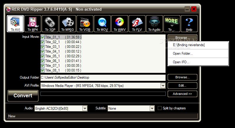 Download RER DVD Ripper 3 7 6 0419