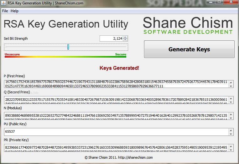Download RSA Key Generation Utility 1 0 0