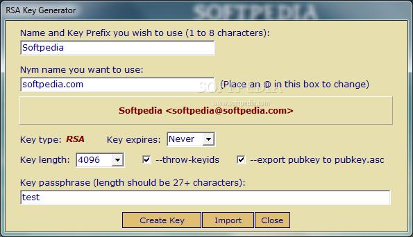 generate rsa key length 4096