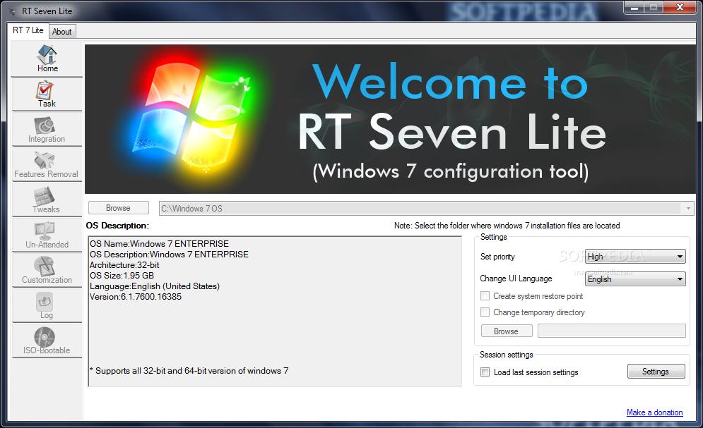 Rt se7en lite download.