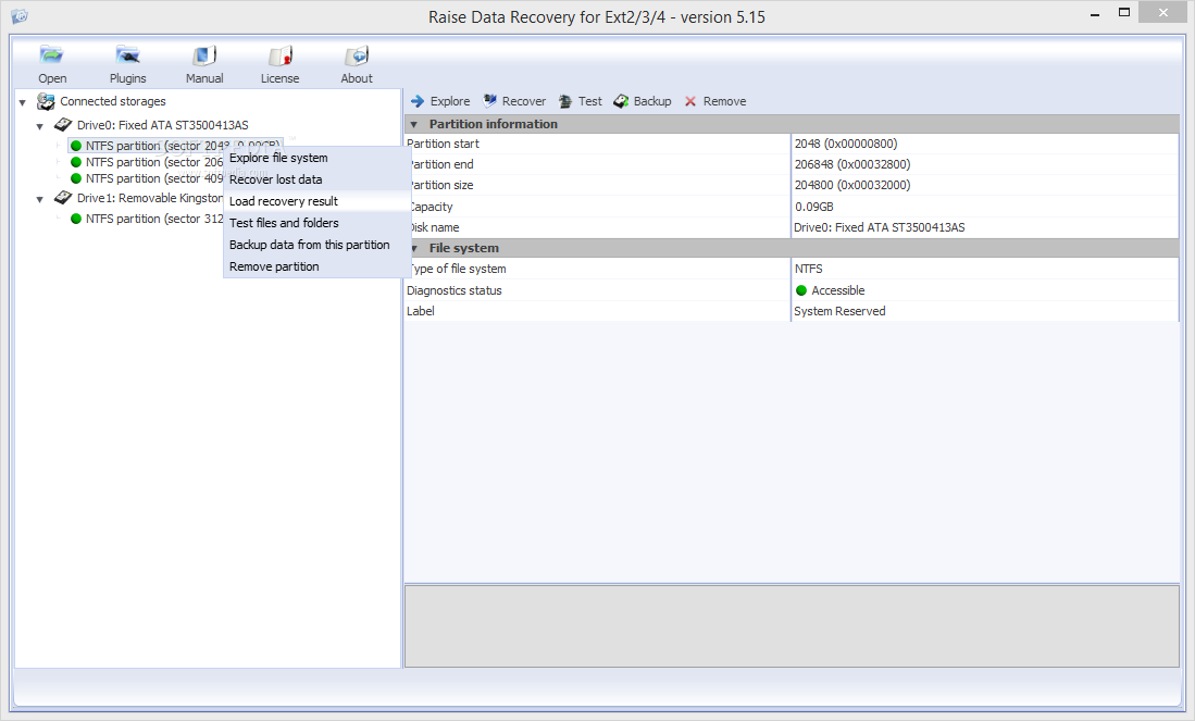 Download Raise Data Recovery for Ext2/Ext3/Ext4 5 19 1