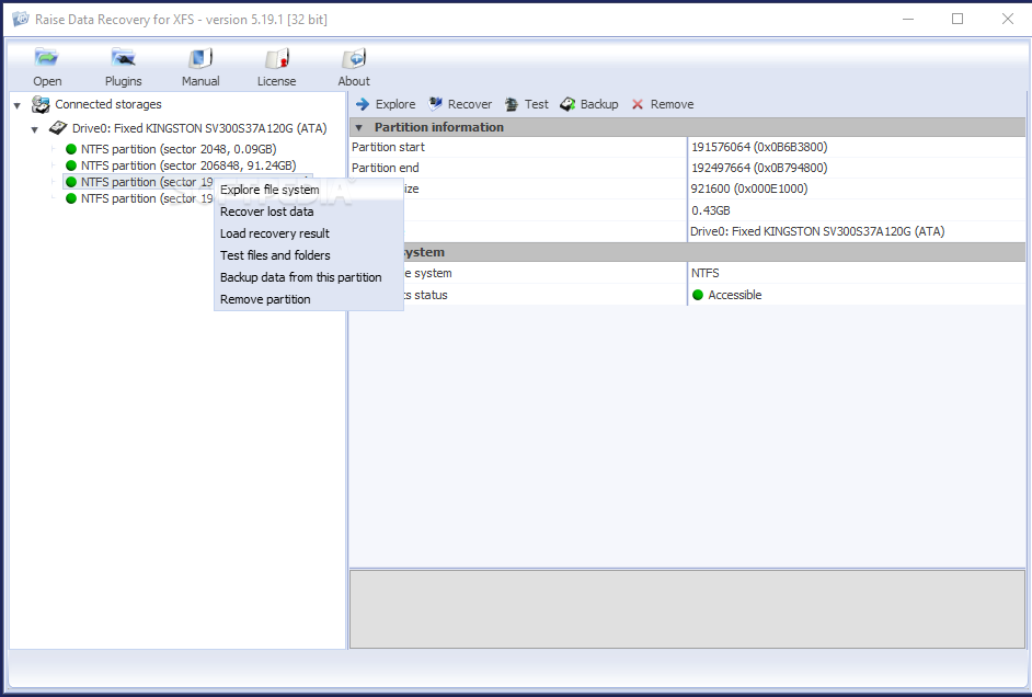 Download Raise Data Recovery for XFS 5 19 1