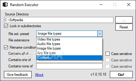 Random Executor screenshot #1