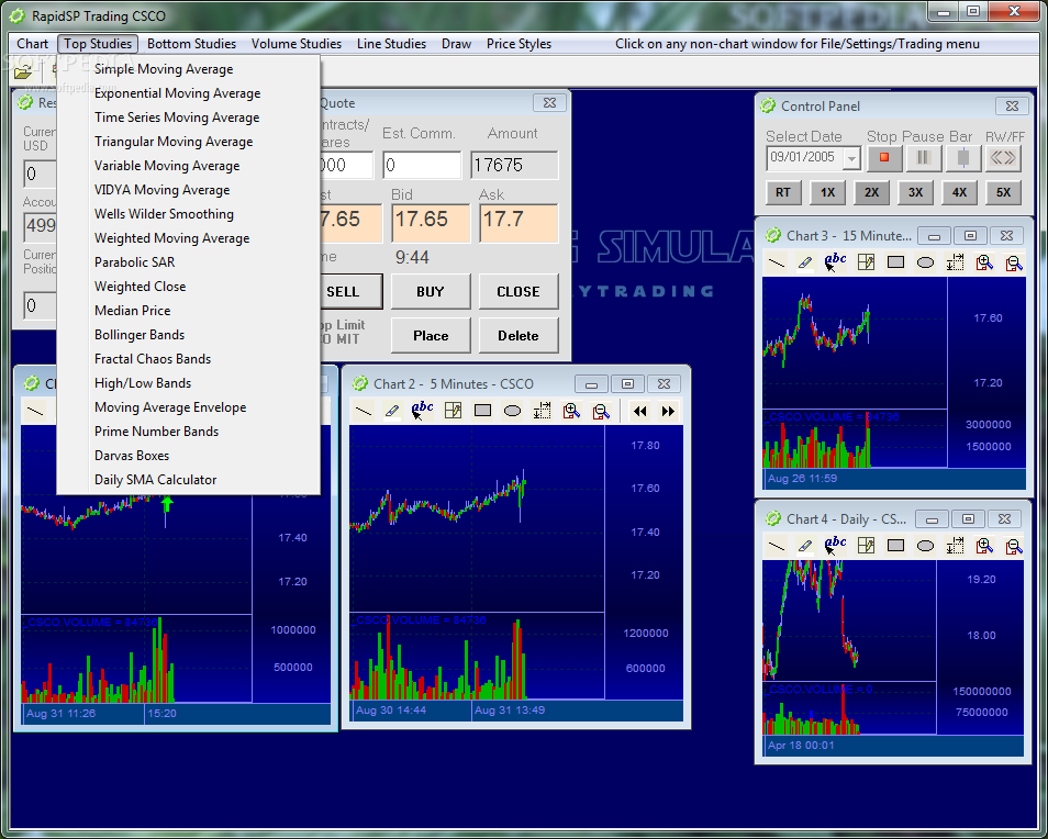 RapidSP Trading Simulator Download