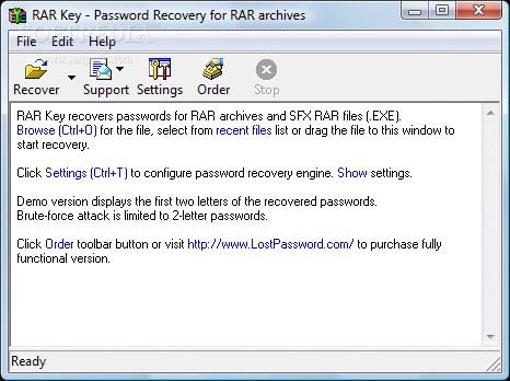 how to get past a rar password