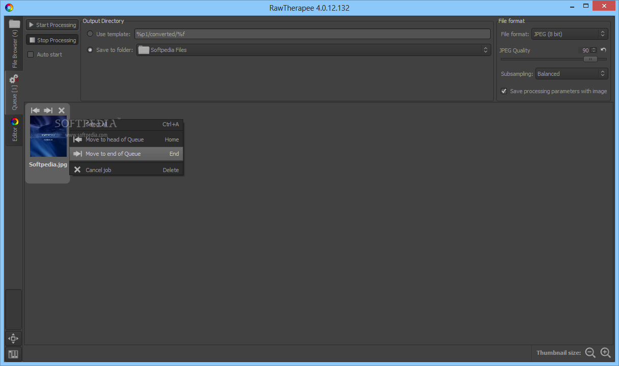 Download RawTherapee 5.5 ... RawTherapee - Users can easily add the images they want to optimize to  the queue and ...
