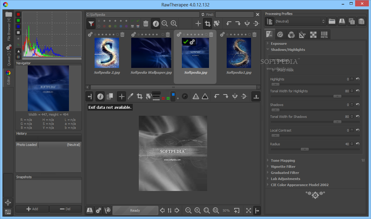 Download RawTherapee 5.5 ... RawTherapee - RawTherapee comes in handy when you want to add shadows  to your images, ...