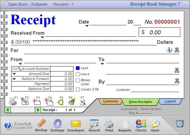 download receipt book manager 7 0 0