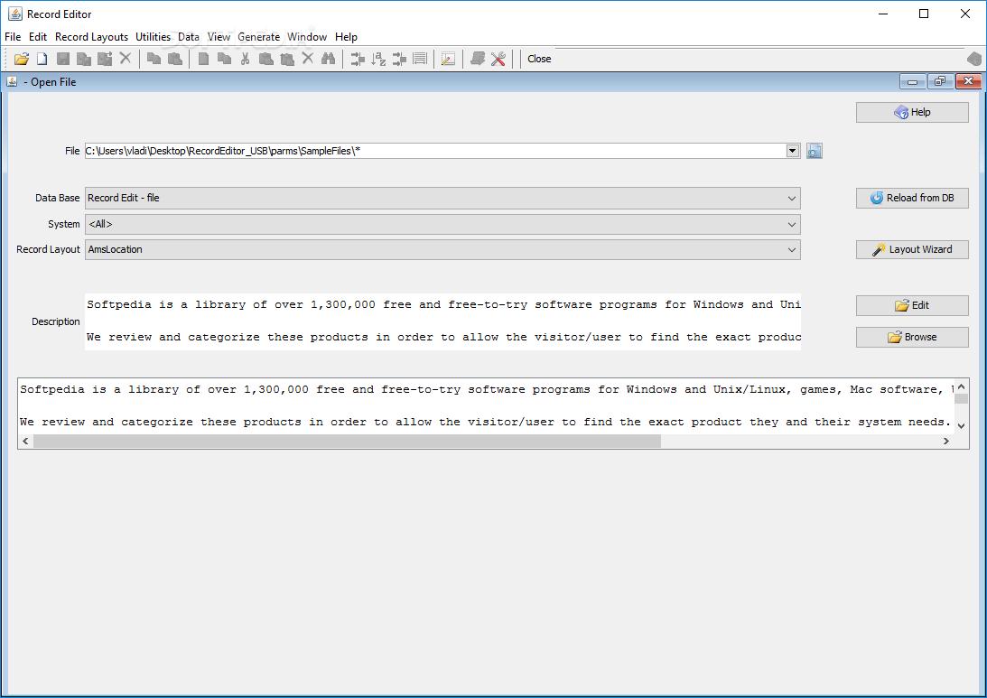 Download RecordEditor Portable 0 97 / 0 99 0 Test