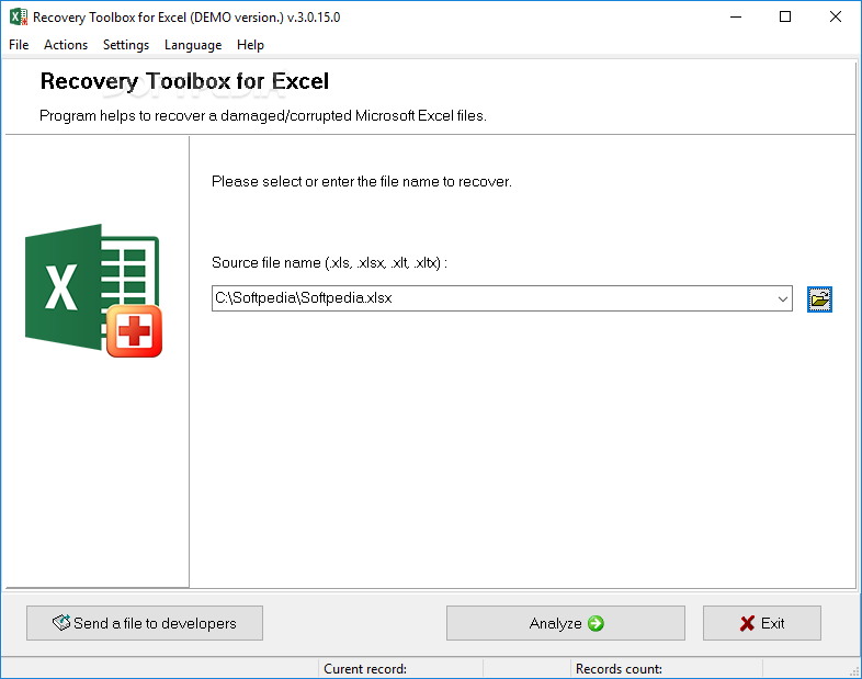 Download Recovery Toolbox for Excel 3 3 21 0