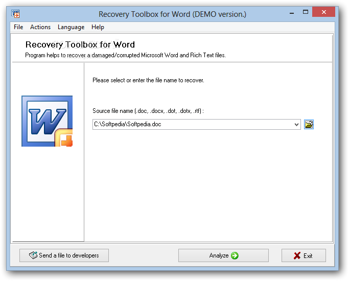 Recovery toolbox word crack- Recovery Toolbox for Word 1.1.8 Скачать