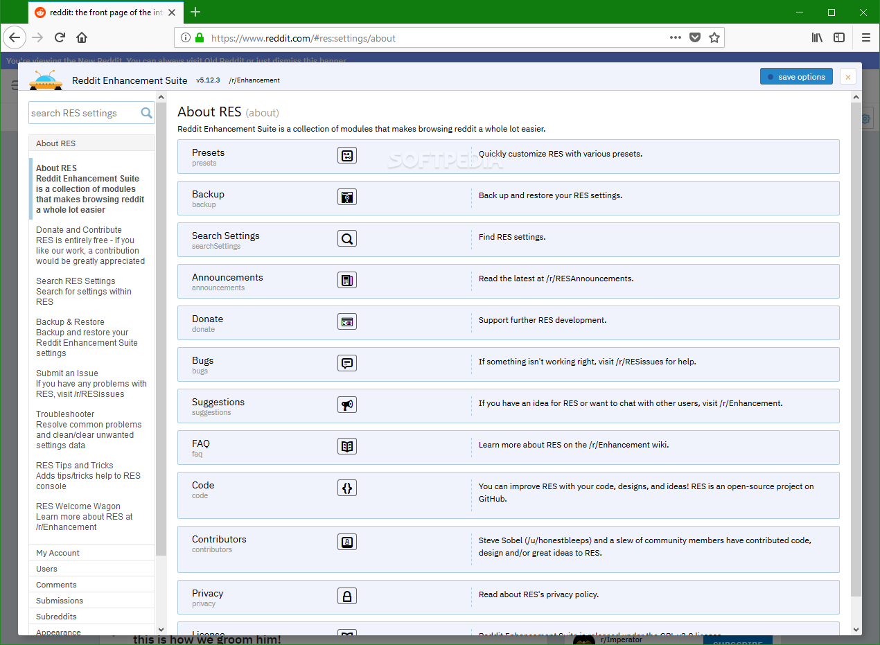 Download Reddit Enhancement Suite for Firefox 5 16 10