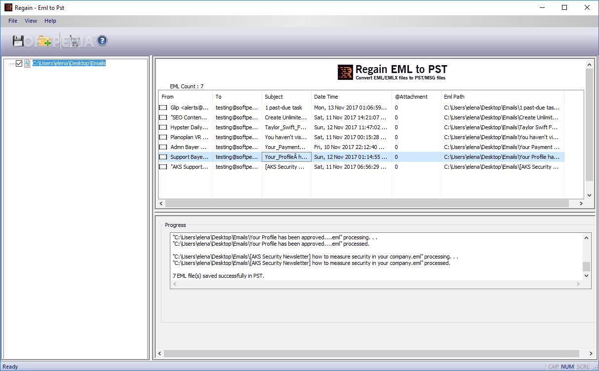 Download Regain EML to PST Converter 1 0