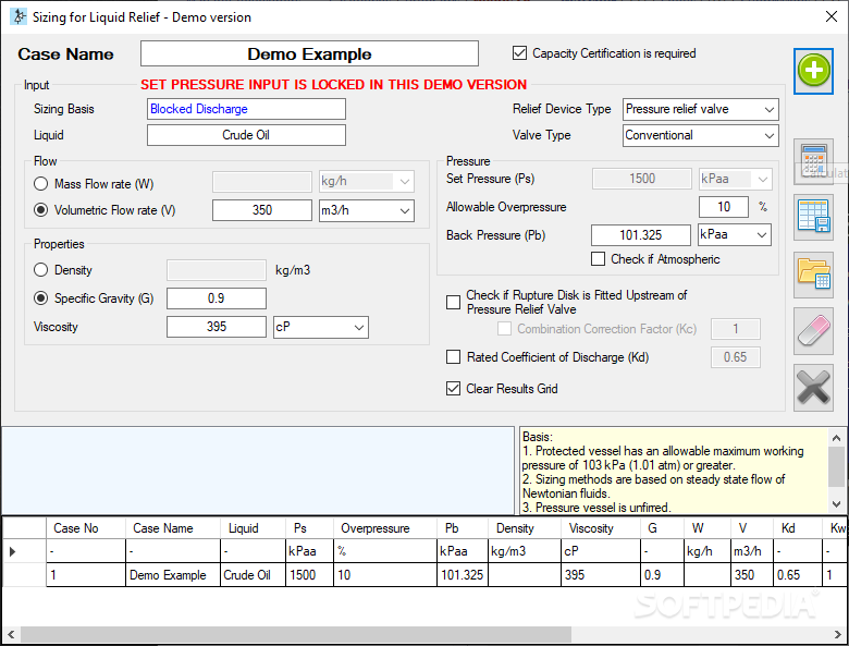 Download Relief Valve Sizing Calculator 1 1 0 0