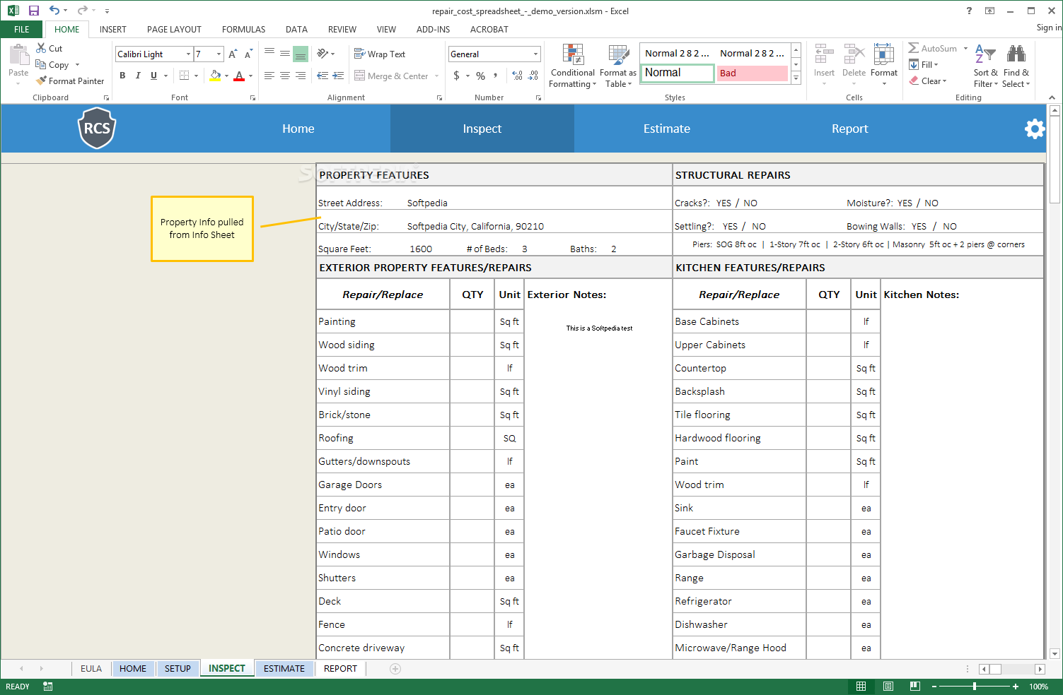 Download Remodel Cost Spreadsheet