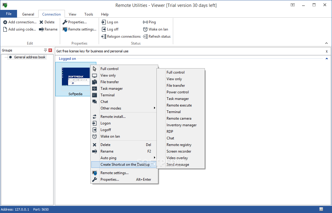 Download Remote Utilities Viewer 6940 Power Manager You Can Initiate File Transfers With The Pc