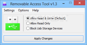 Download Removable Access Tool 1.3 Removable Access Tool - You can enable full access to your device or you  can restrict ...