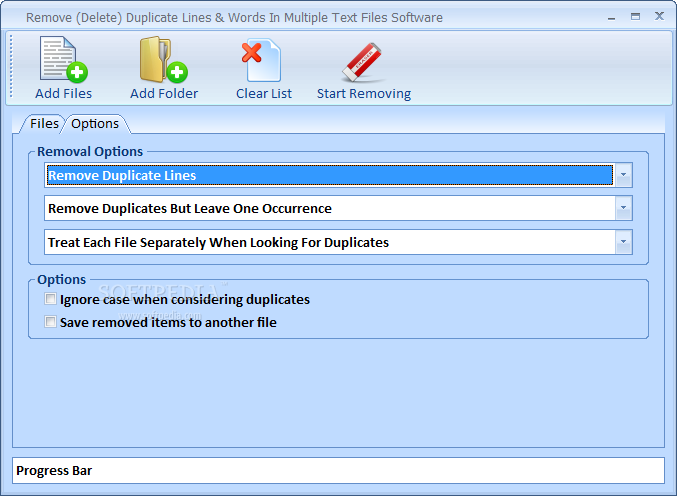Download Remove (Delete) Duplicate Lines & Words In Multiple Text Files  Software 7 0