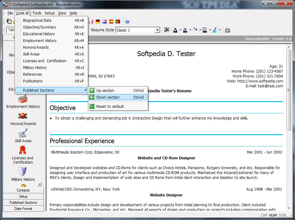 Download Resumebuilder 4 8