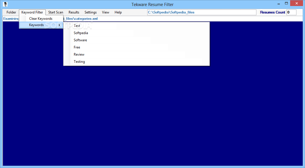 Download Tekware Resume Filter 2500