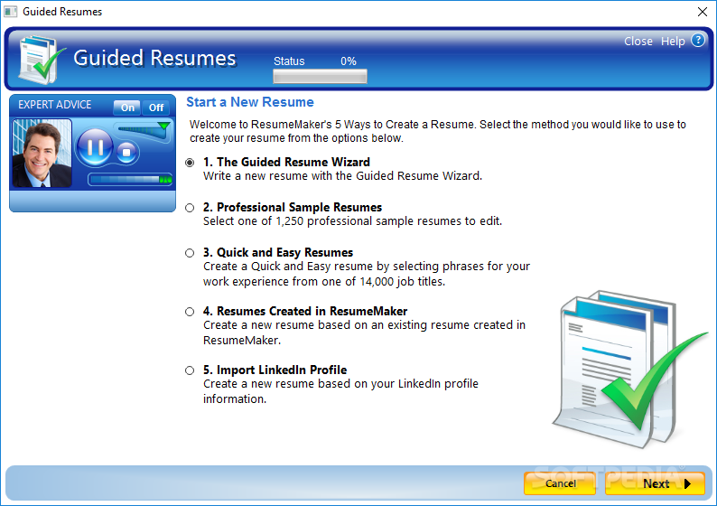 Resume maker professional