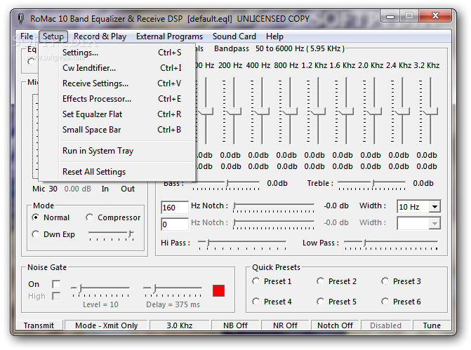 Download RoMac 10 Band Equalizer & DSP Receive 3 7 0