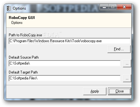Download RoboCopy GUI 1 0 0 24