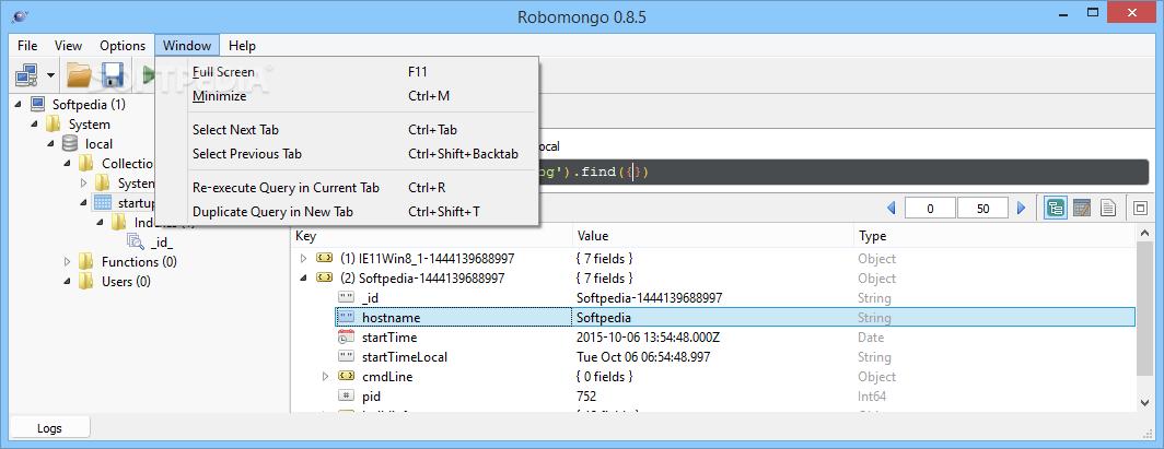 Download Robo 3T 1 2 1 / 1 3 1 Beta