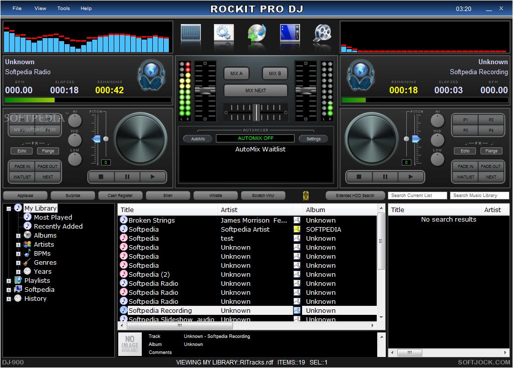Download Rockit Pro DJ 5.00 Build 121 Rockit Pro DJ - Rockit Pro DJ will help you easily mix and edit audio files  ...