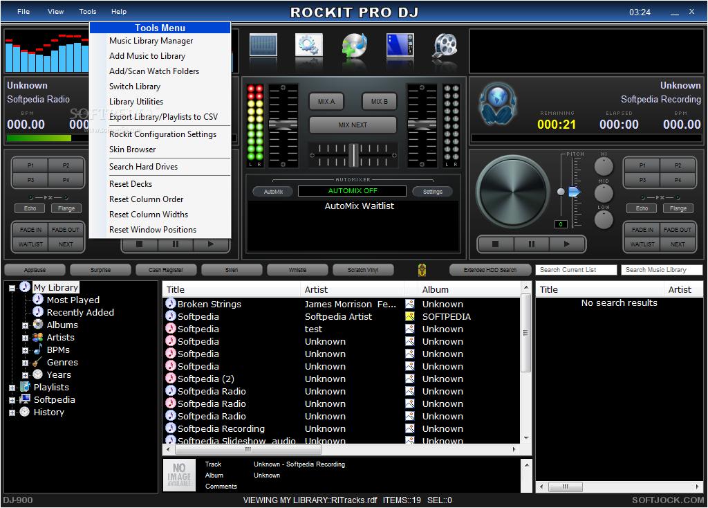 Download Rockit Pro DJ 5.00 Build 121 ... Rockit Pro DJ - screenshot #4 ...