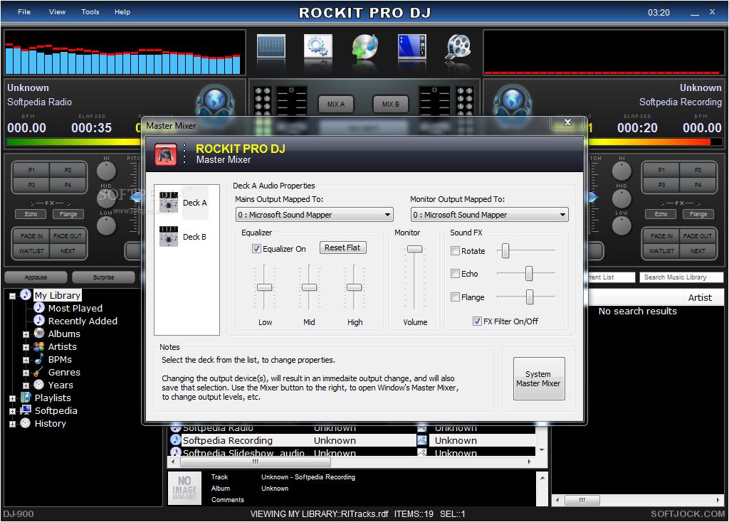 Download Rockit Pro DJ 5.00 Build 121 ... Rockit Pro DJ - screenshot #5 ...