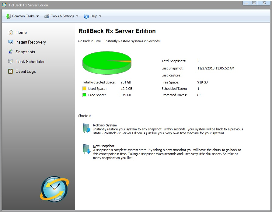 Download RollBack Rx Server Edition 3.3 Build 2705114395