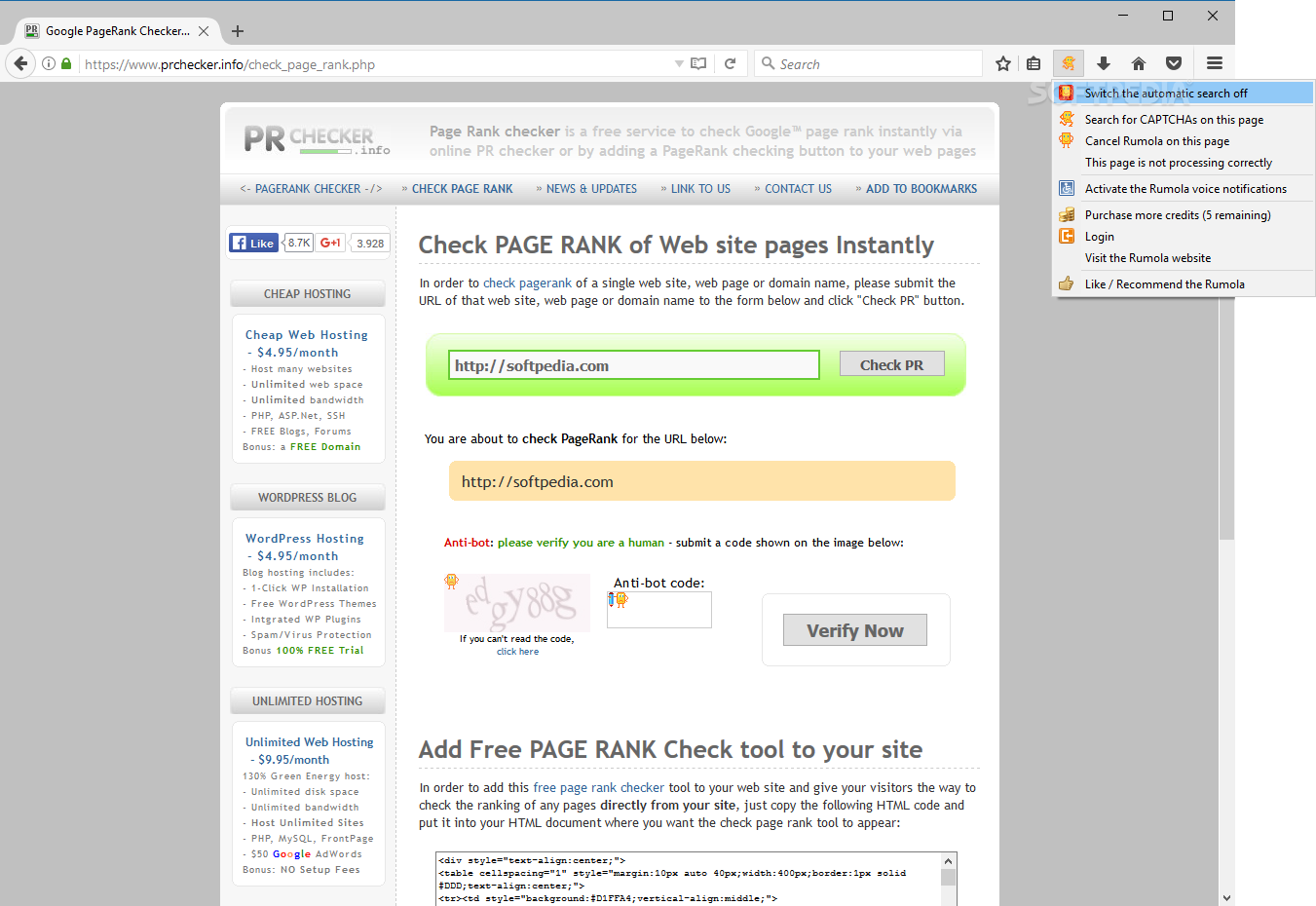 Download Rumola for Firefox 3 0 1 1