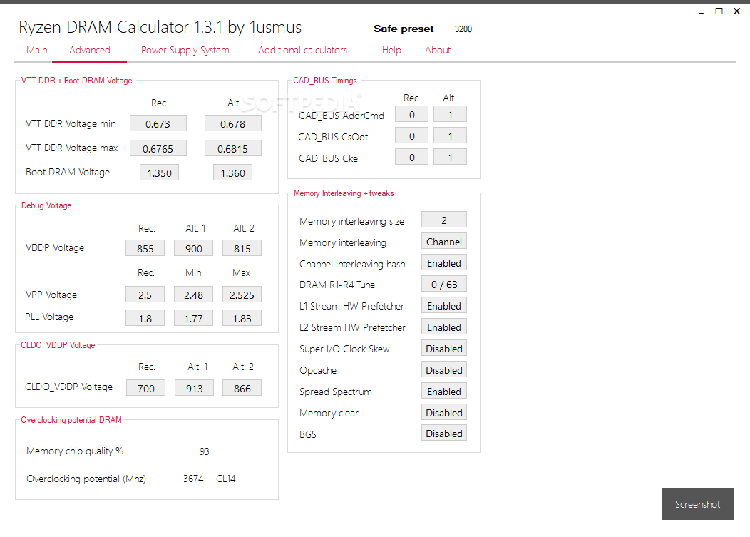 Download DRAM Calculator for Ryzen 1 6 0 3