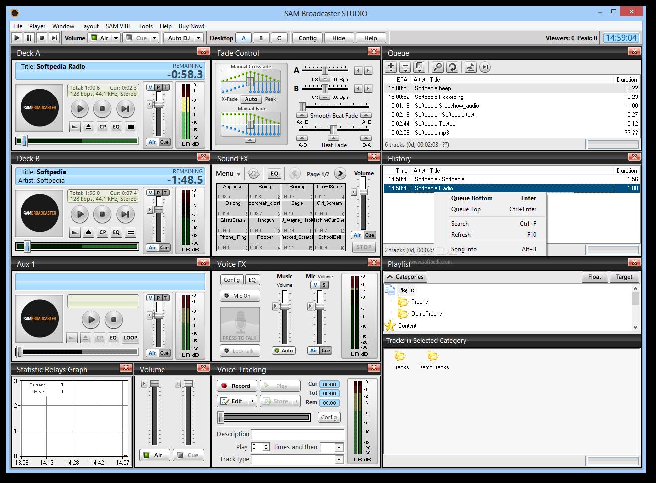 sams broadcaster for windows 10